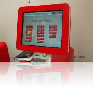Royal Mail Hytech NextGen Post and Go screen