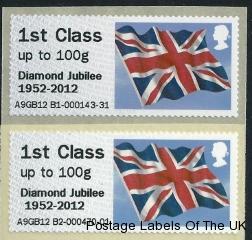 Normal and Offset Diamond Jubilee Overprint