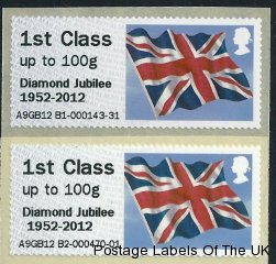 Normal and Offset Diamond Jubilee Overprint