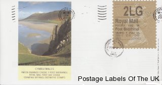 First Day Cover of Welsh Gold Machin Label