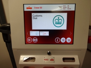 Kiosk M002 VAT and Duty Due Screen Crewe EO Post and Go