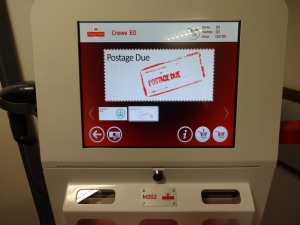 Kiosk M002 Postage Due Screen Crewe EO