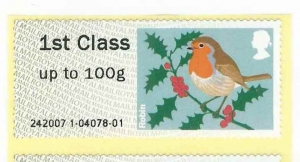 Xmas Robin MA13 Post and Go Wincor + Receipt