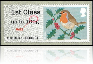 Post and Go Robin Christmas 2012 MA12 Varient