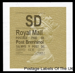 Example of Welsh Gold Horizon Machin Label